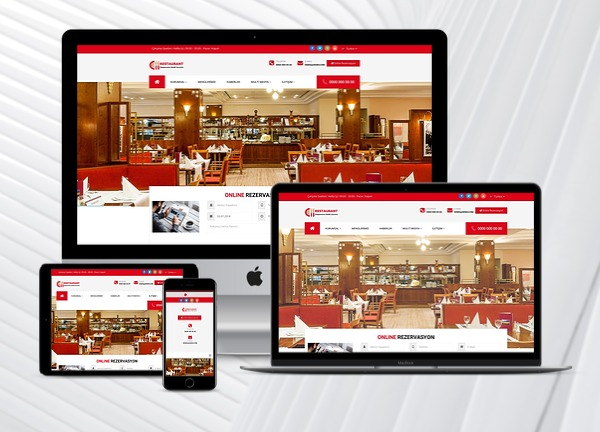 Restaurant Web Tanıtım Sitesi Kudüs