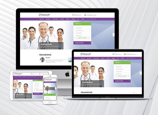 Doktor / Klinik Web Tanıtım Sitesi