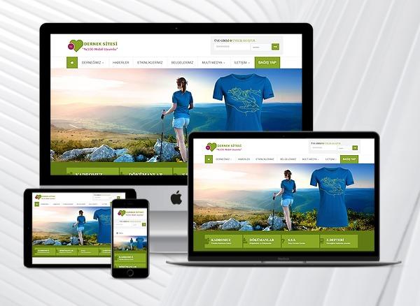Dernek Web Tanıtım Sitesi Yeşil