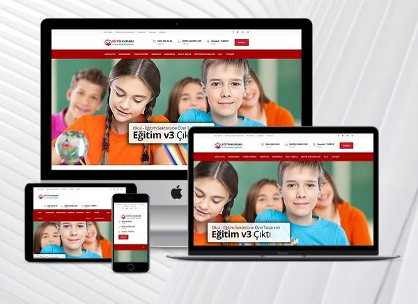 Eğitim Kurumları Web Sitesi