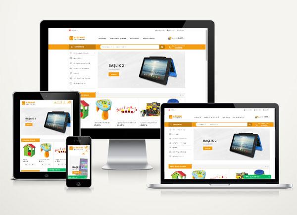 E-Ticaret Web Tanıtım Sitesi 8